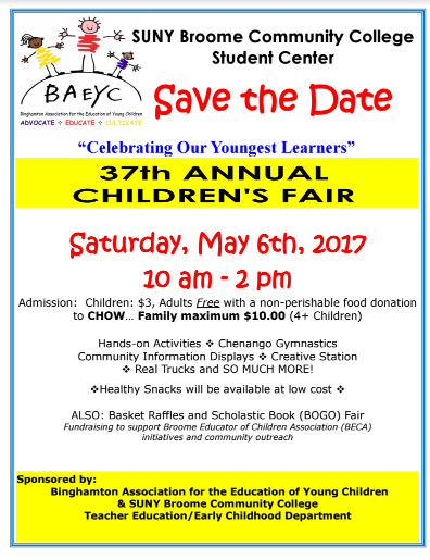 Save the date children's fair 2017