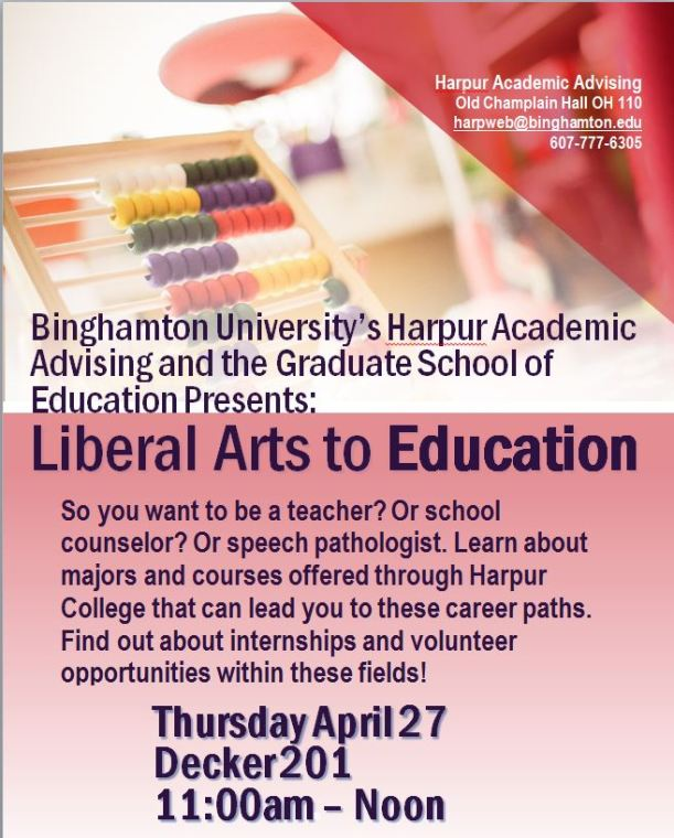 Liberal Arts to Education at Binghamton University